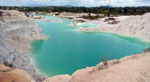 Kaolin lake Bangka Belitung juStgoindonesia indonesia travel