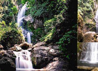 Lubuk Hitam Waterfall in Bukit Barisan   Indonesia Travel