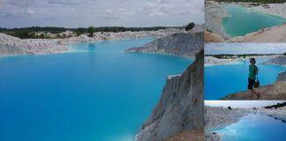 Kaolin lake Bangka Belitung juStgoindonesia indonesia travel