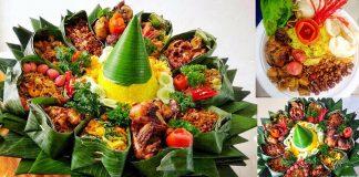 Javanese-tradition-serving-Nasi-Tumpeng
